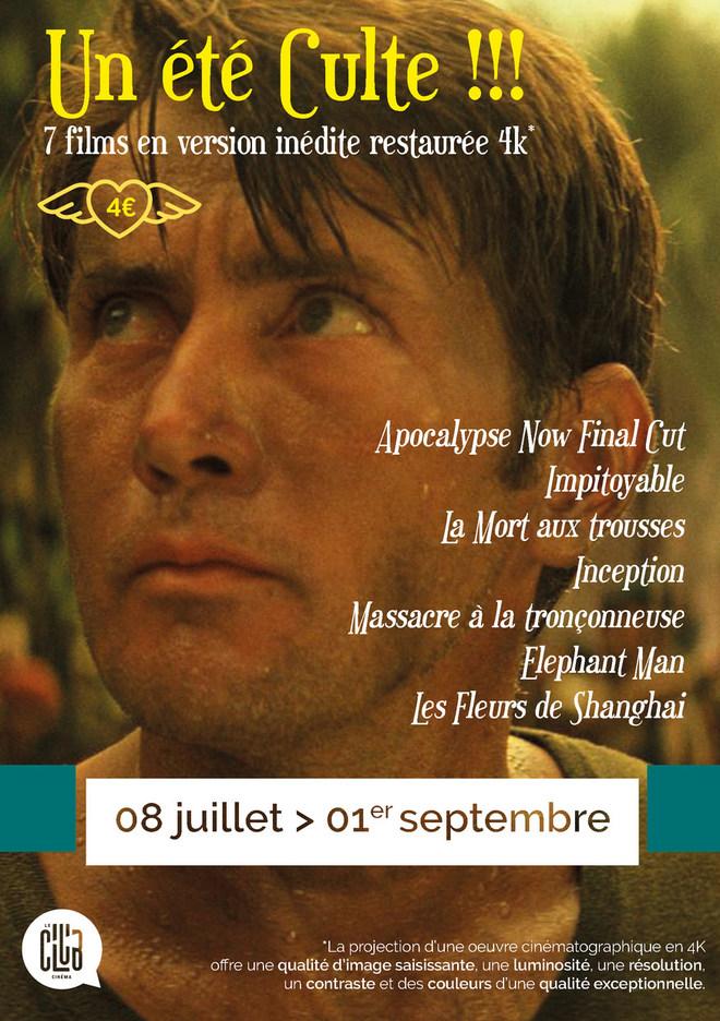 Un été Culte !!! 7 films en version inédite restaurée en 4K* (tarif unique : 4€)